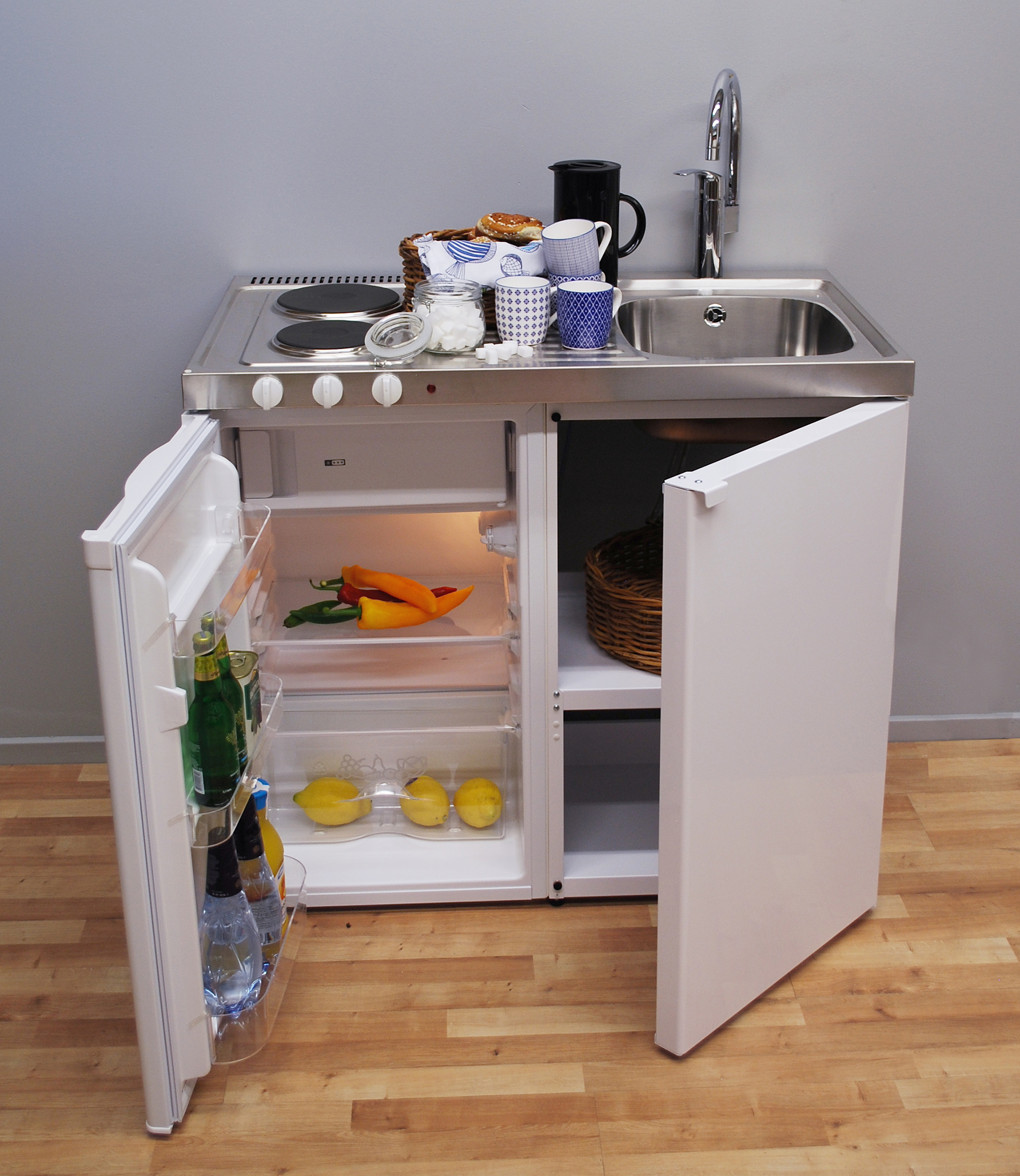 John strand mini kitchen our standard mini kitchen for Kitchen units for small kitchen